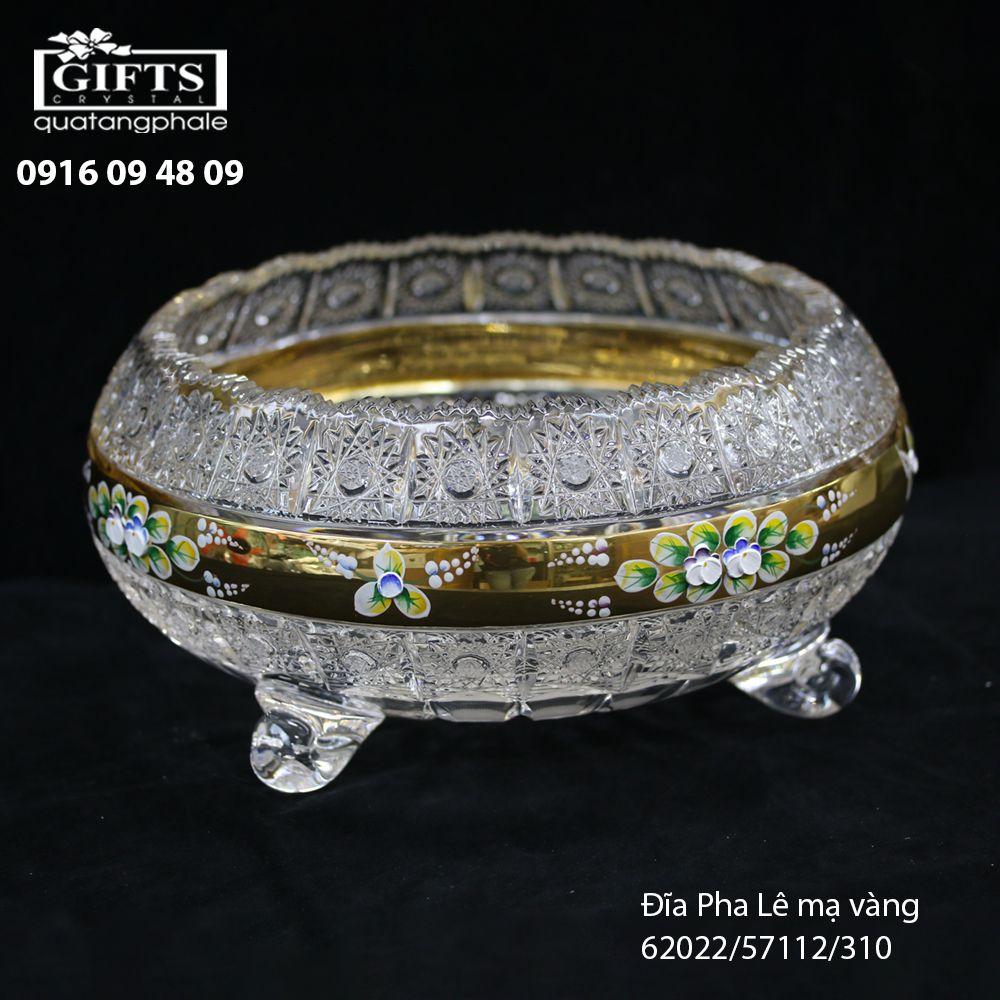 Đĩa pha lê mạ vàng 62022-57112-310