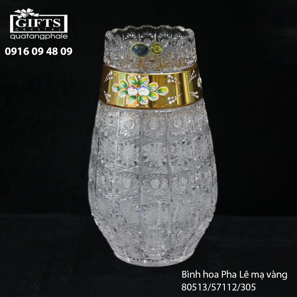 Bình hoa pha lê mạ vàng 80513-57112-305