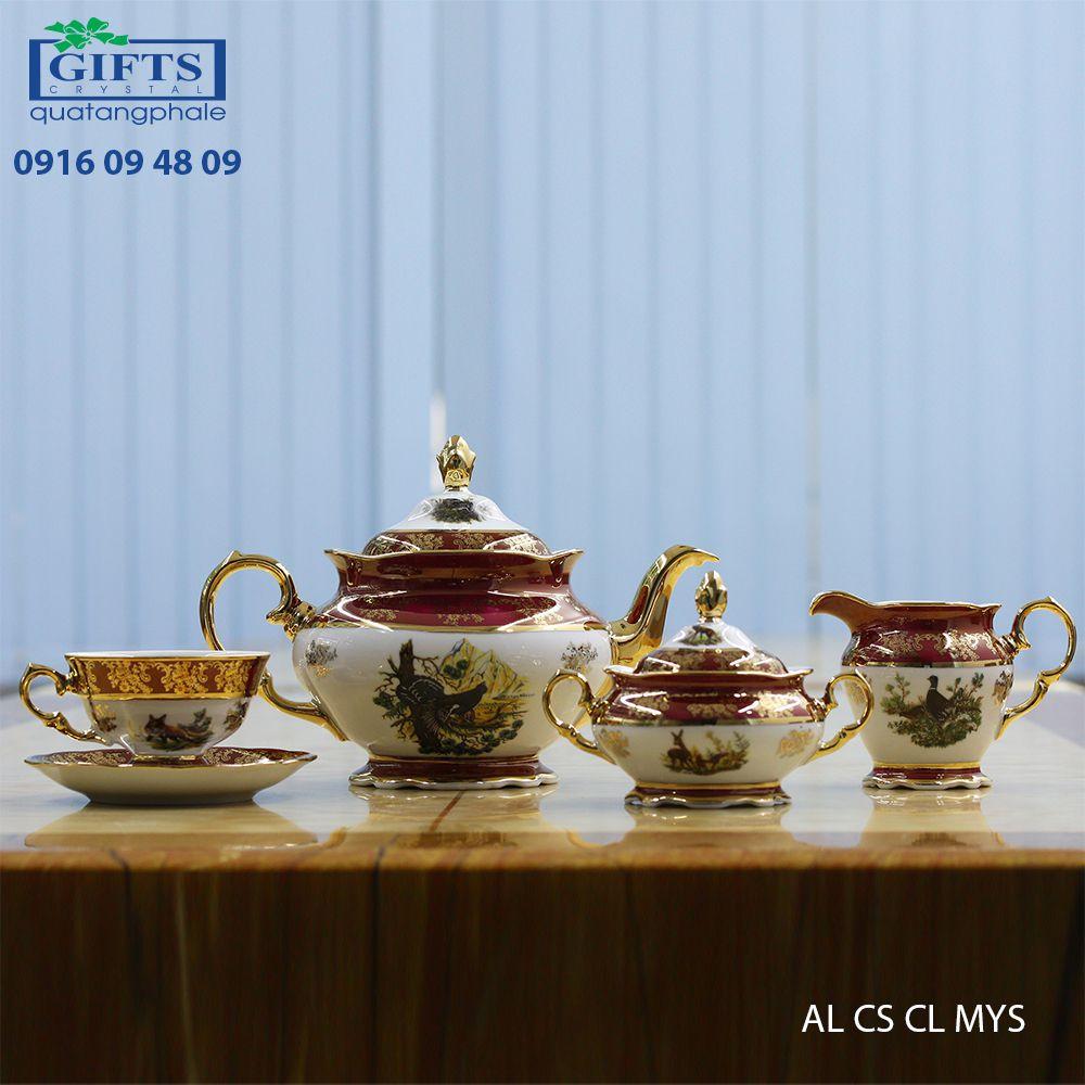 Bộ ấm trà sứ AL-CS-CL-MYS