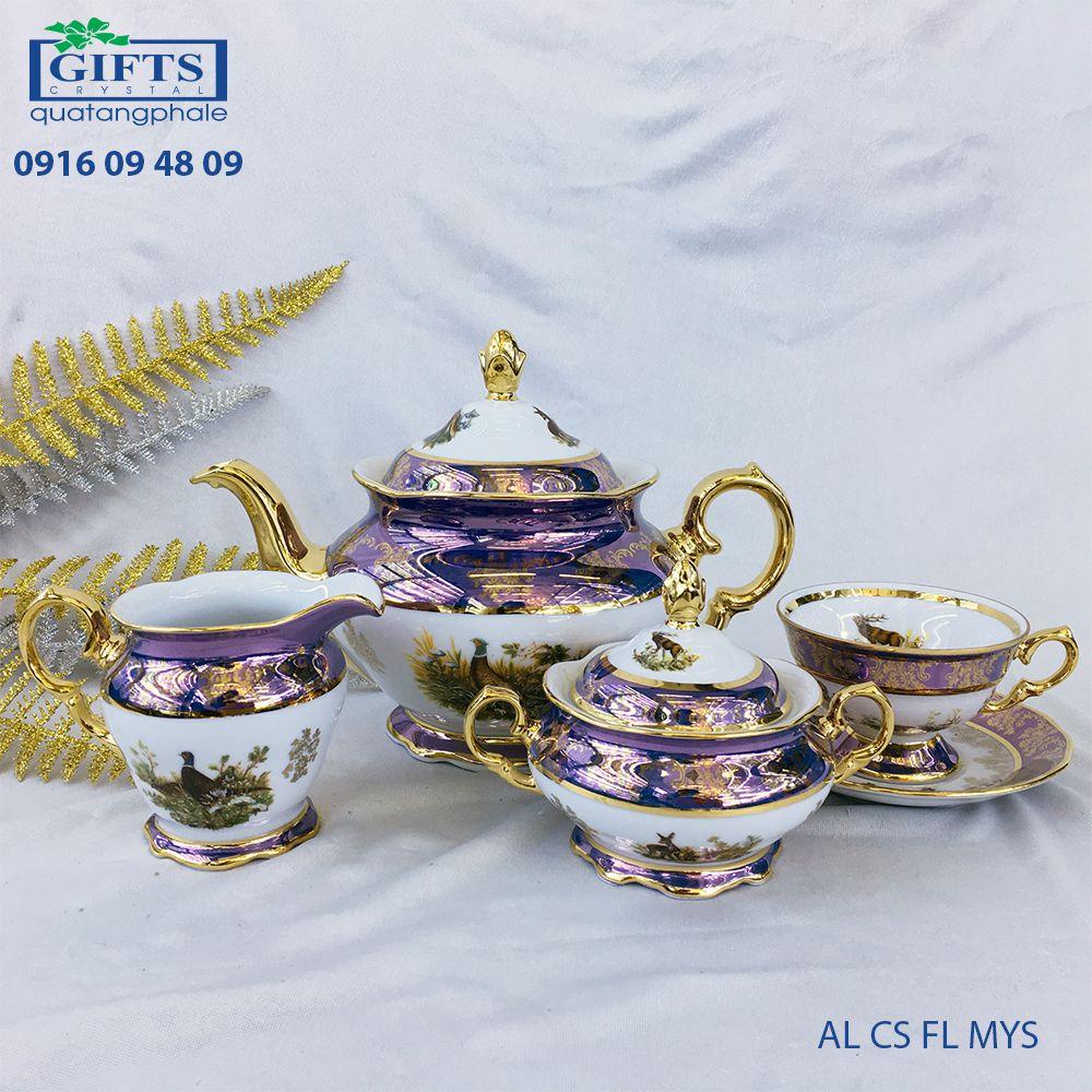 Bộ ấm trà sứ AL-CS-FL-MYS