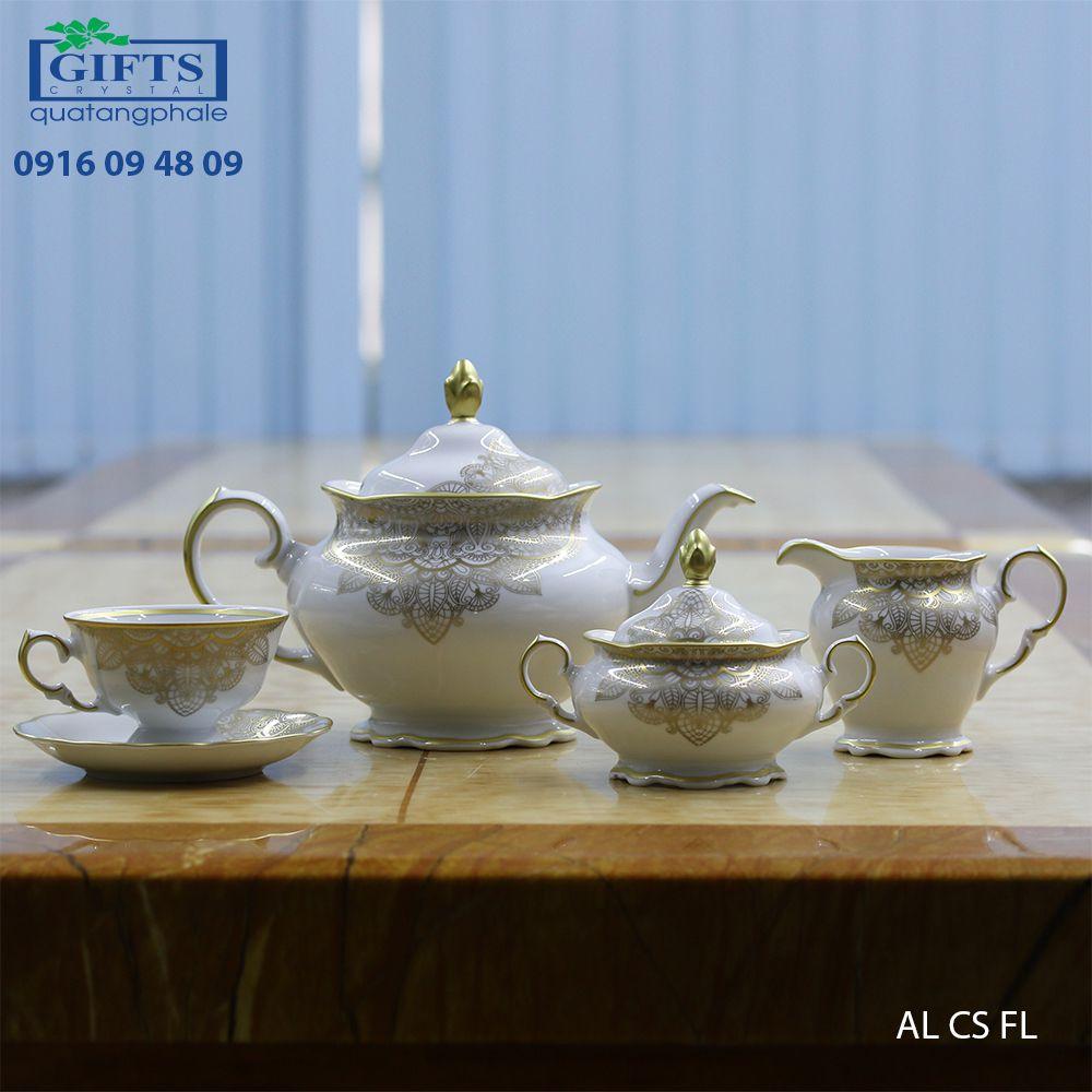 Bộ ấm trà sứ lớn AL-CS-FL