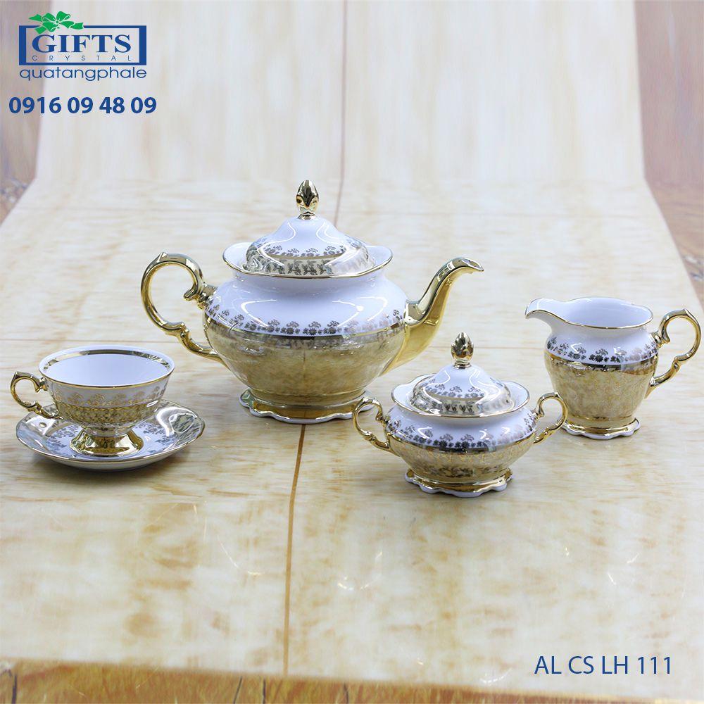 Bộ ấm trà sứ AL-CS-LH-111