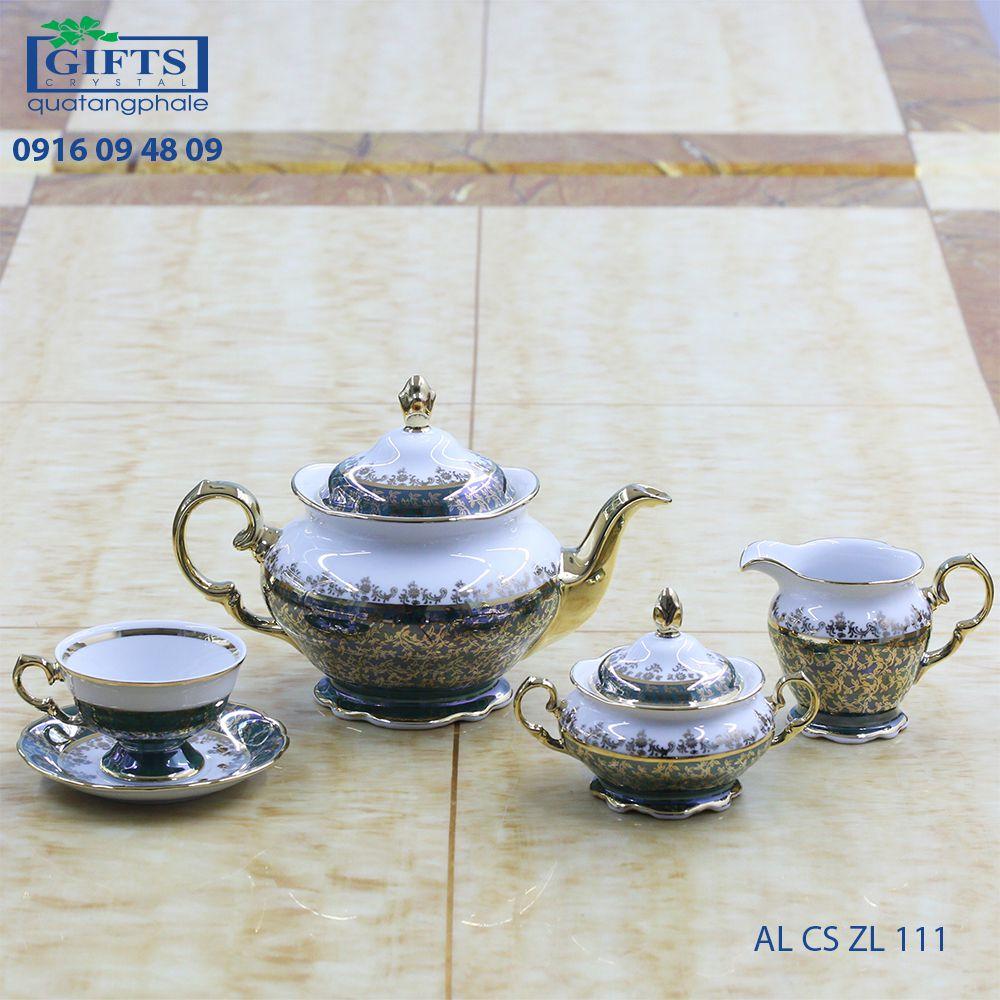Bộ ấm trà sứ AL-CS-LZ-111