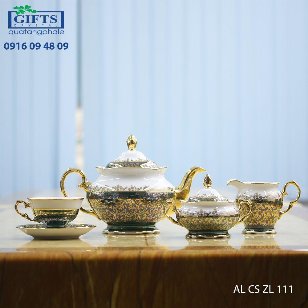 Bộ ấm trà sứ AL-CS-LC-111