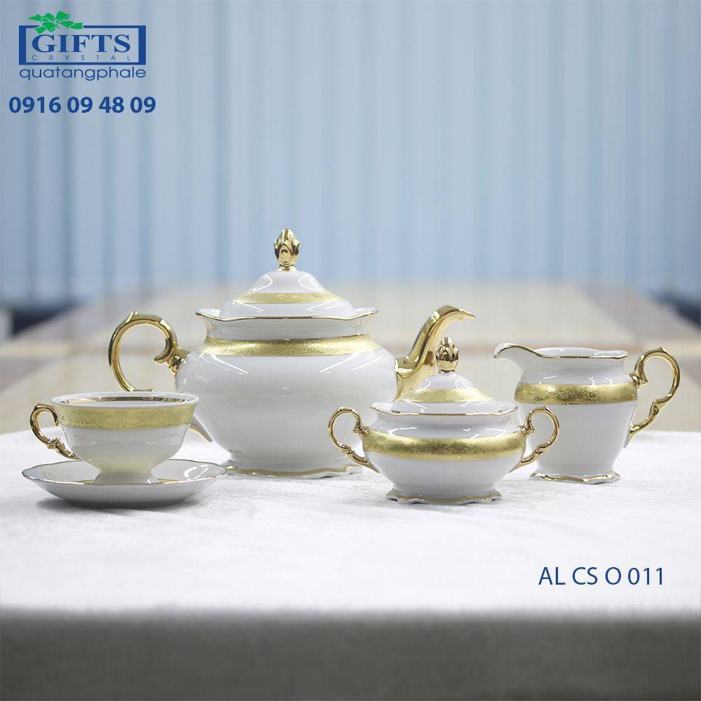 Bộ ấm trà sứ AL-CS-O-011