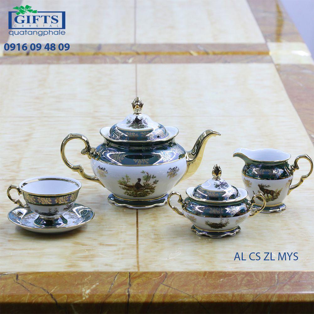 Bộ ấm trà sứ AL-CS-ZL-MYS