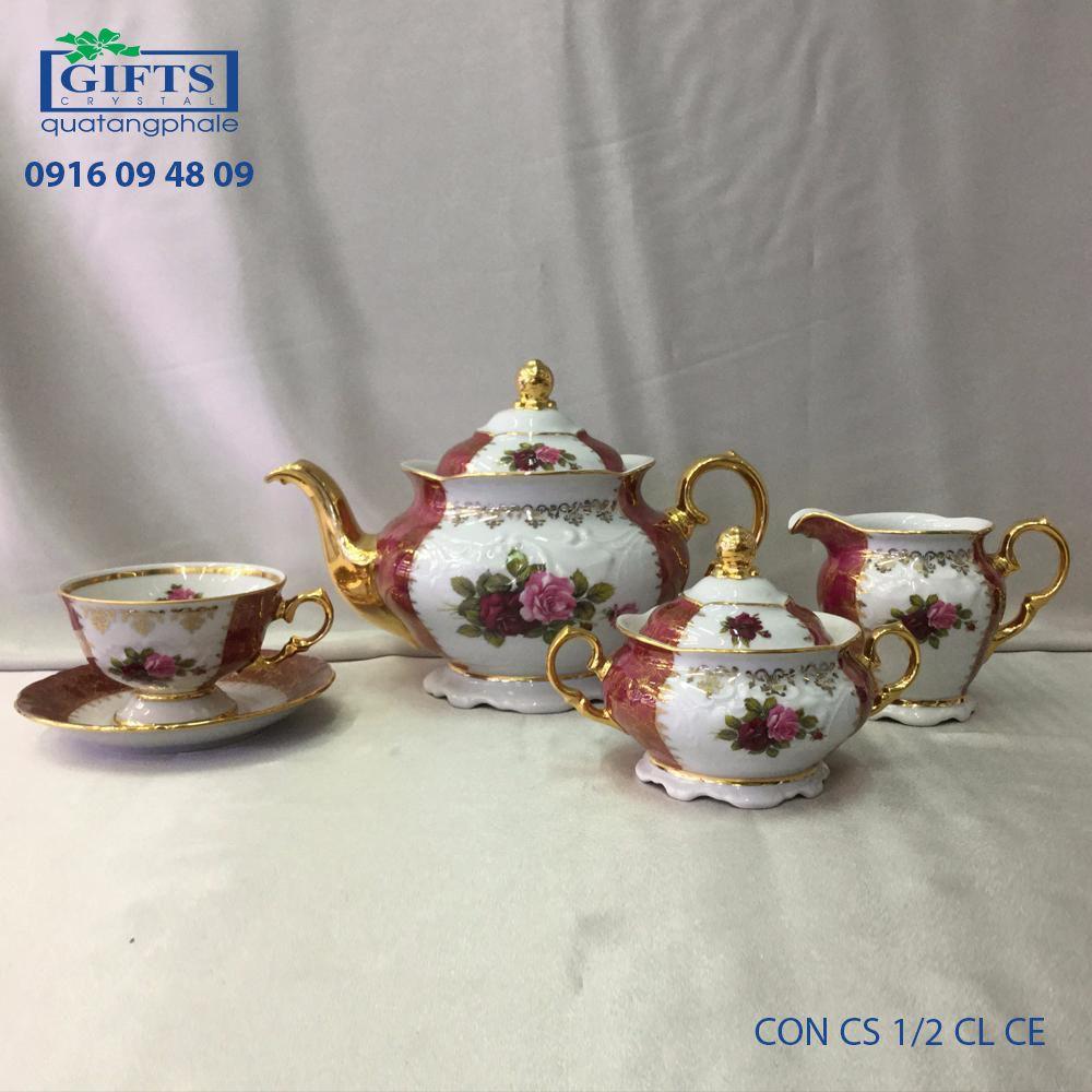 Bộ ấm trà sứ CON-CS-1.2-CL-CE