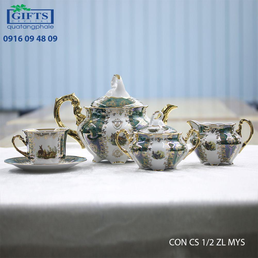 Bộ ấm trà sứ CON-CS-1.2-ZL-MYS