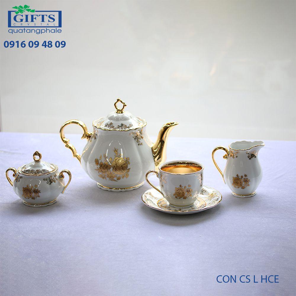 Bộ ấm trà sứ CON-CS-L-HCE