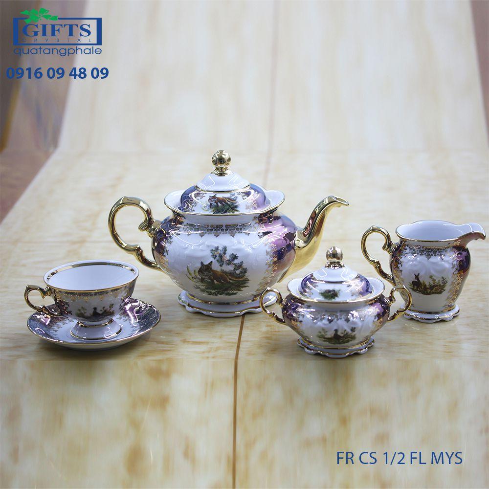 Bộ ấm trà sứ FR-CS-1.2-FL-MYS