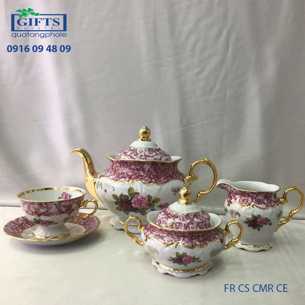 Bộ ấm trà sứ FR-CS-CMR-CE