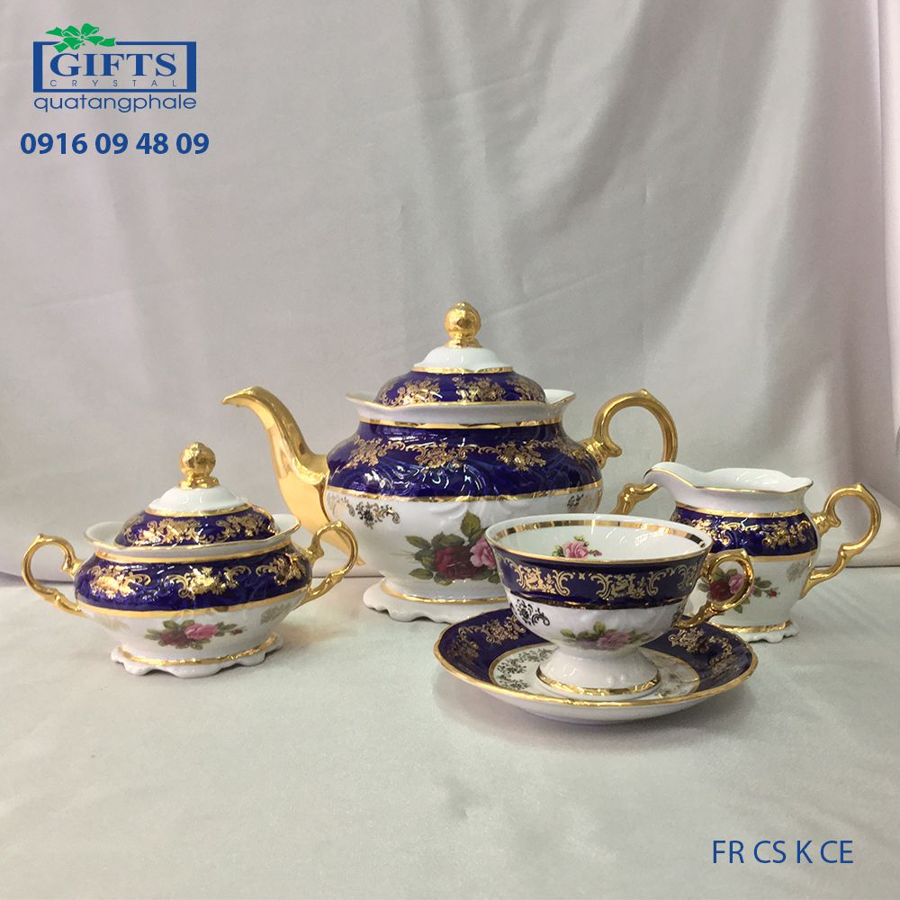 Bộ ấm trà sứ FR-CS-K-CE-2