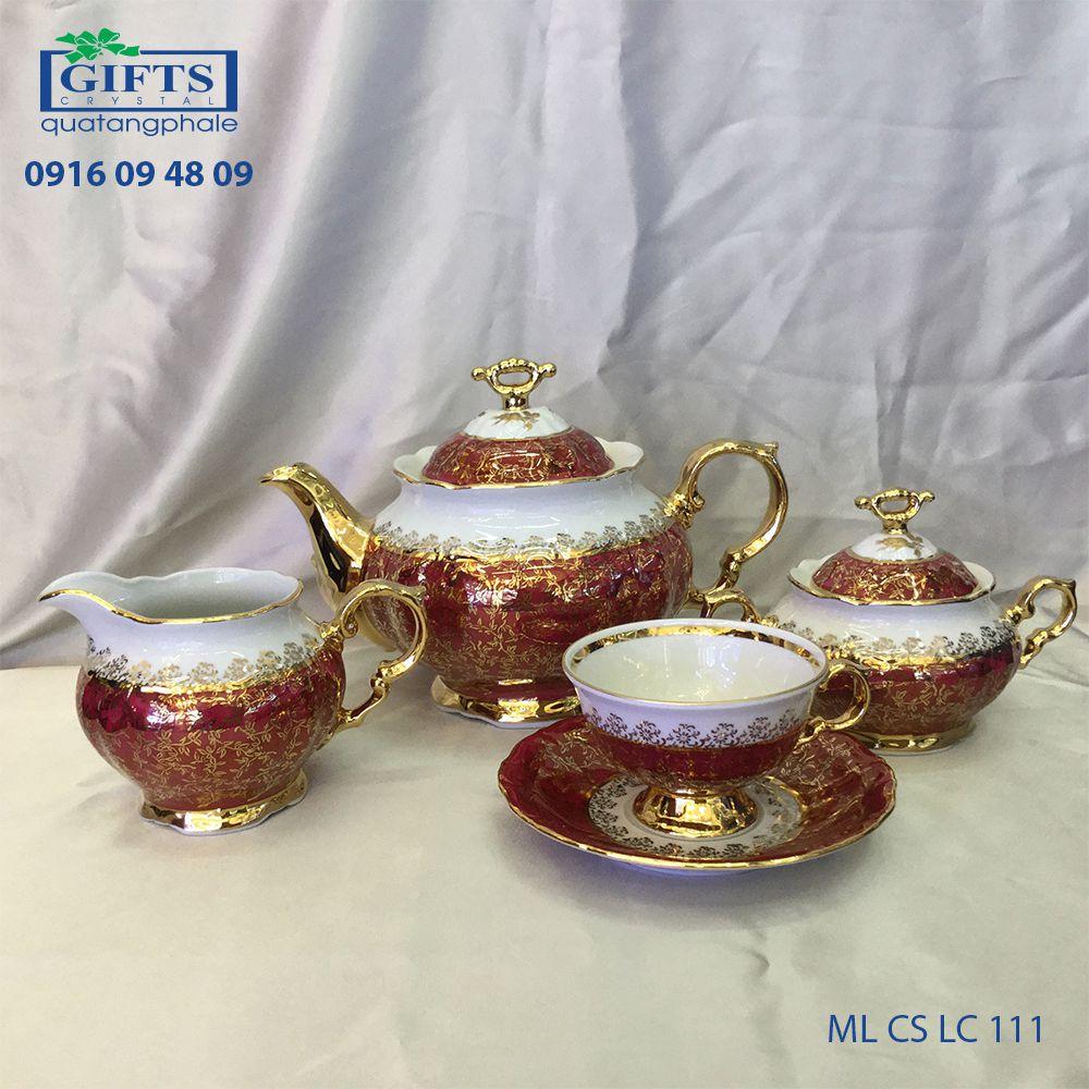 Bộ ấm trà sứ ML-CS-LC-111