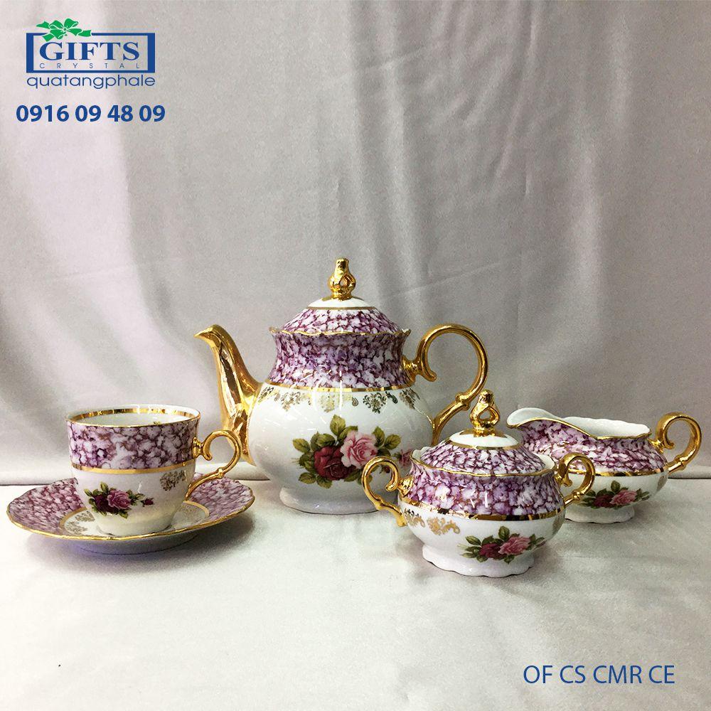 Bộ ấm trà sứ OF-CS-CMR-CE