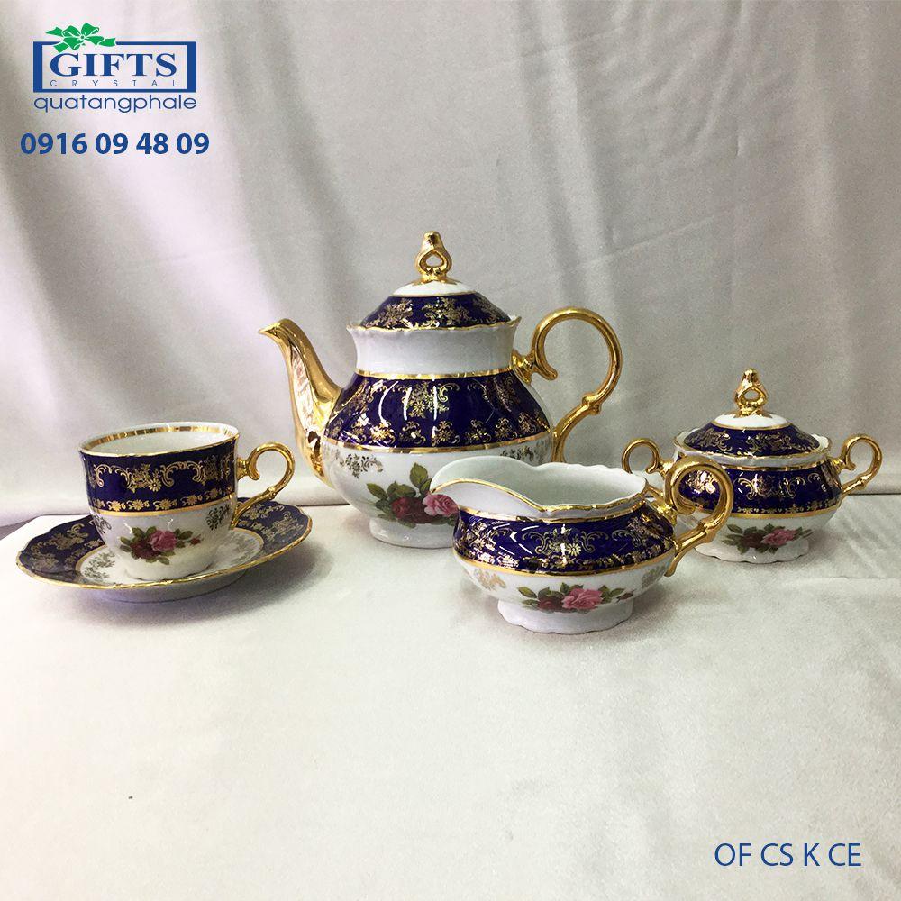 Bộ ấm trà sứ OF-CS-K-CE
