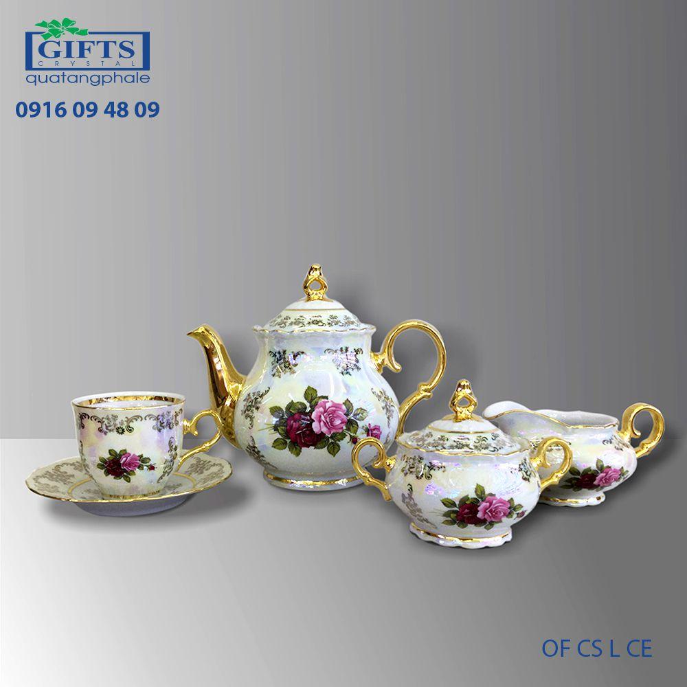 Bộ ấm trà sứ OF-CS-L-CE