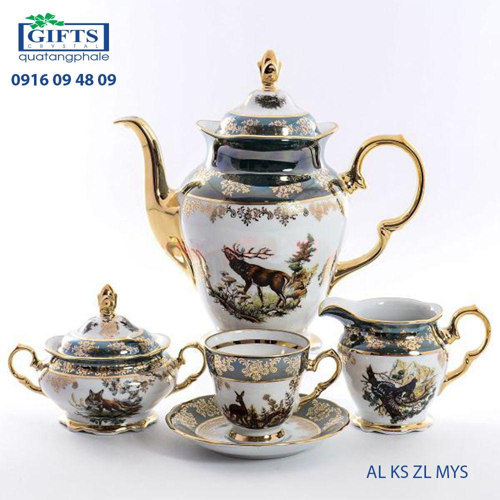 Bộ ấm trà sứ AL-KS-ZL-MYS