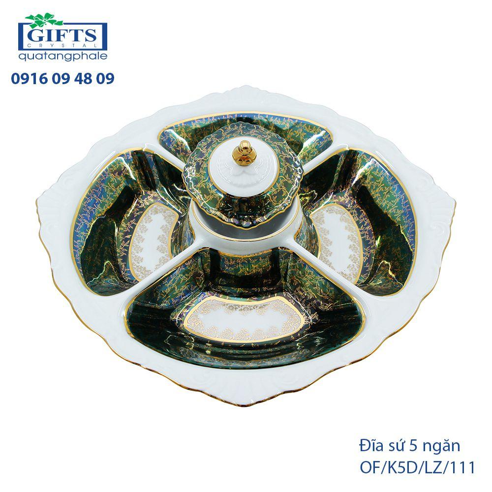 Đĩa sứ 5 ngăn OF-K5D-LZ-111