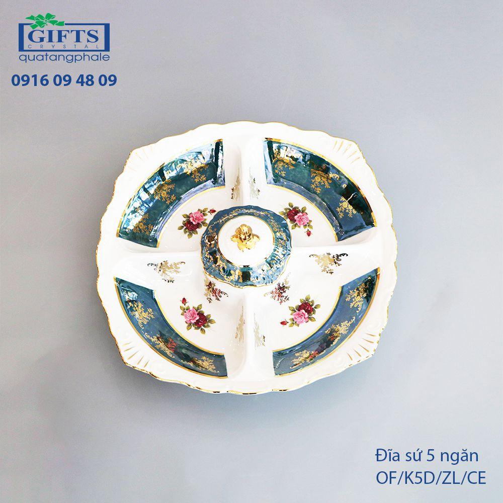 Đĩa sứ 5 ngăn OF-K5D-ZL-CE