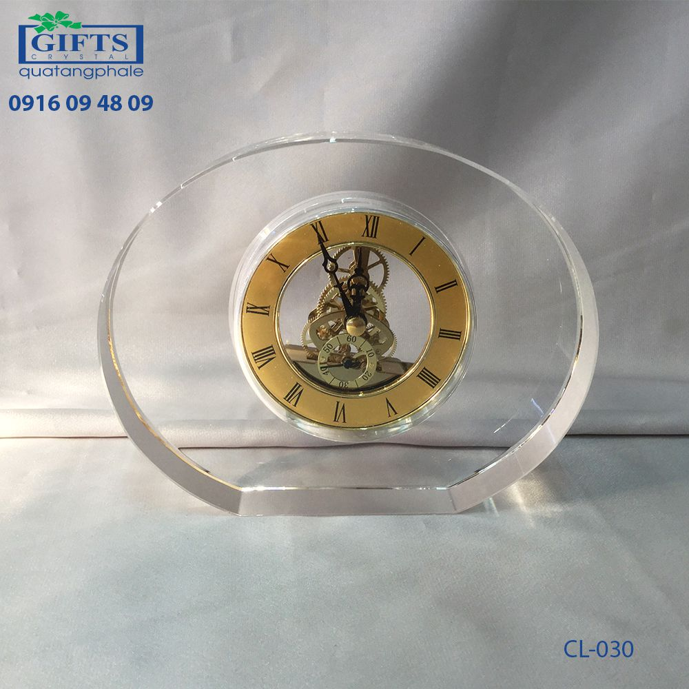 Đồng hồ pha lê để bàn CL-030