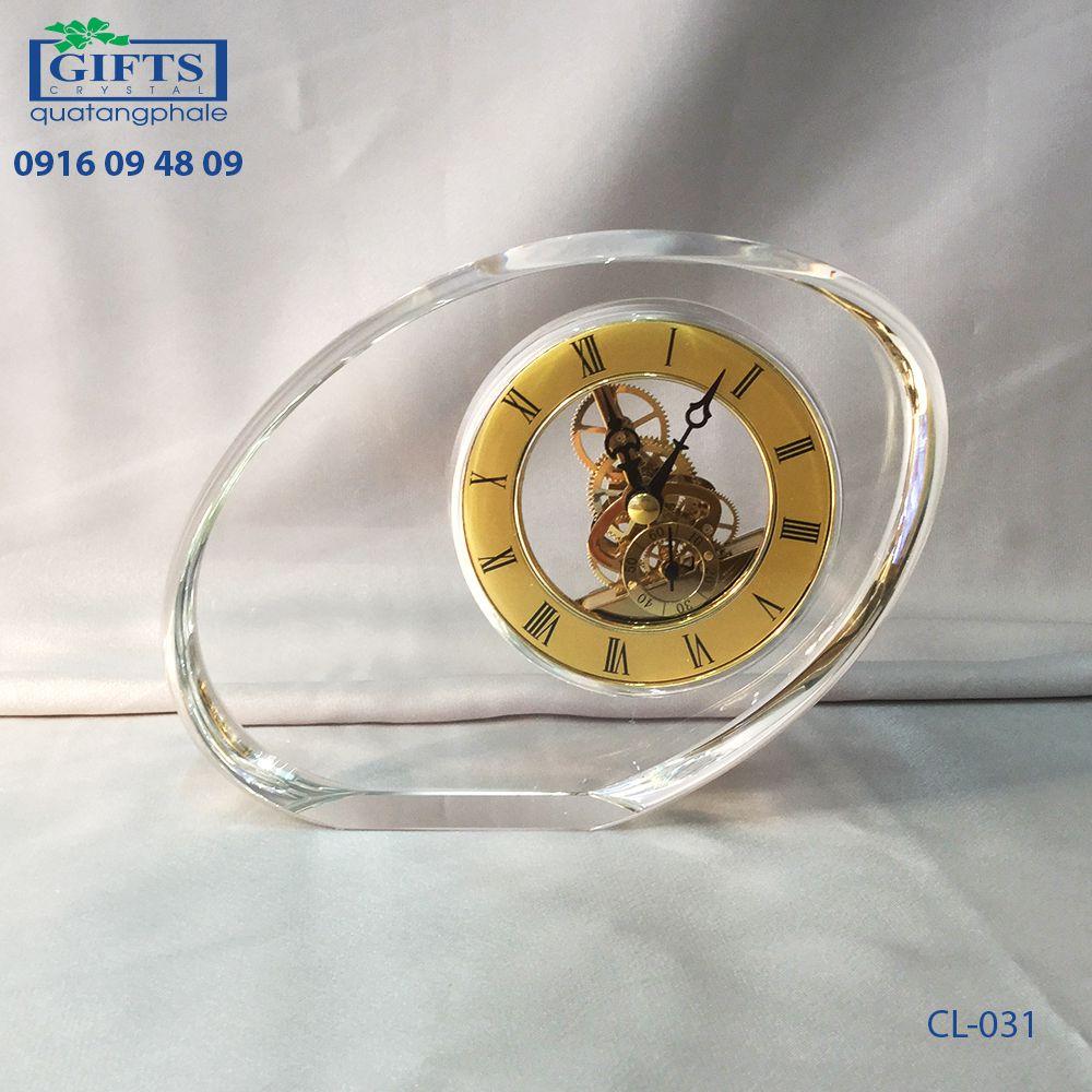 Đồng hồ pha lê để bàn CL-031