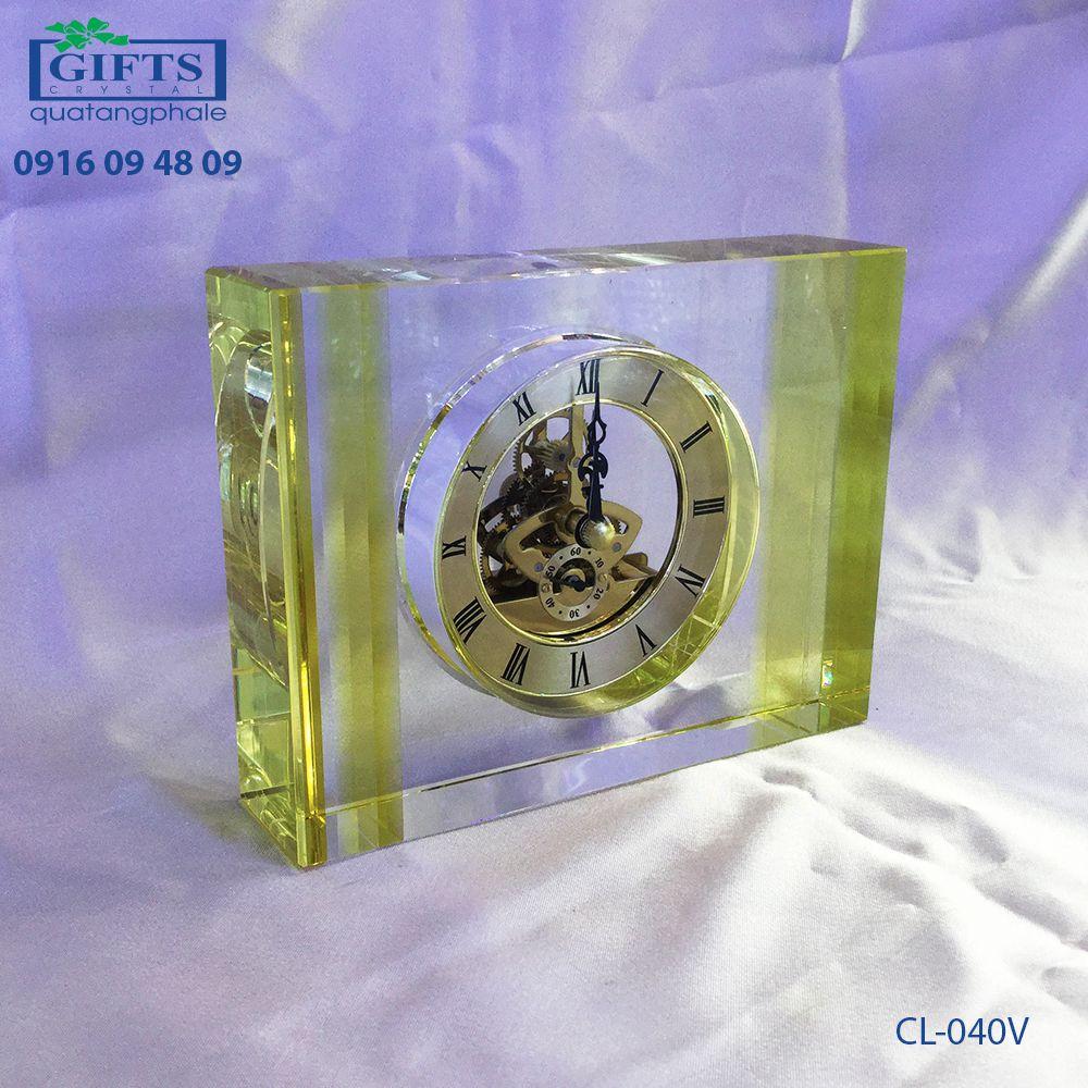 Đồng hồ pha lê để bàn CL-040V
