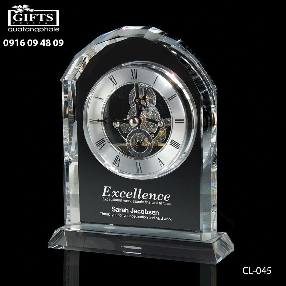 Đồng hồ pha lê để bàn CL-045