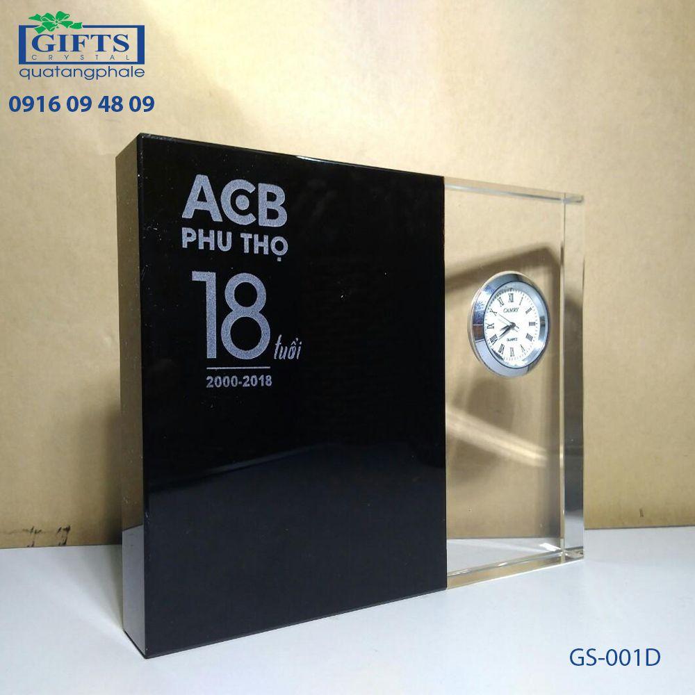 Đồng hồ pha lê để bàn GS-001D