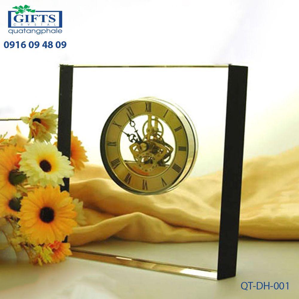 Đồng hồ pha lê để bàn QT-DH-001