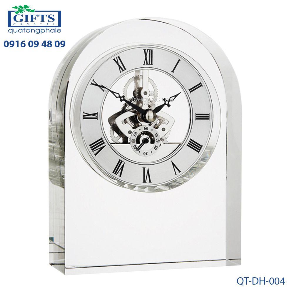Đồng hồ pha lê để bàn QT-DH-004