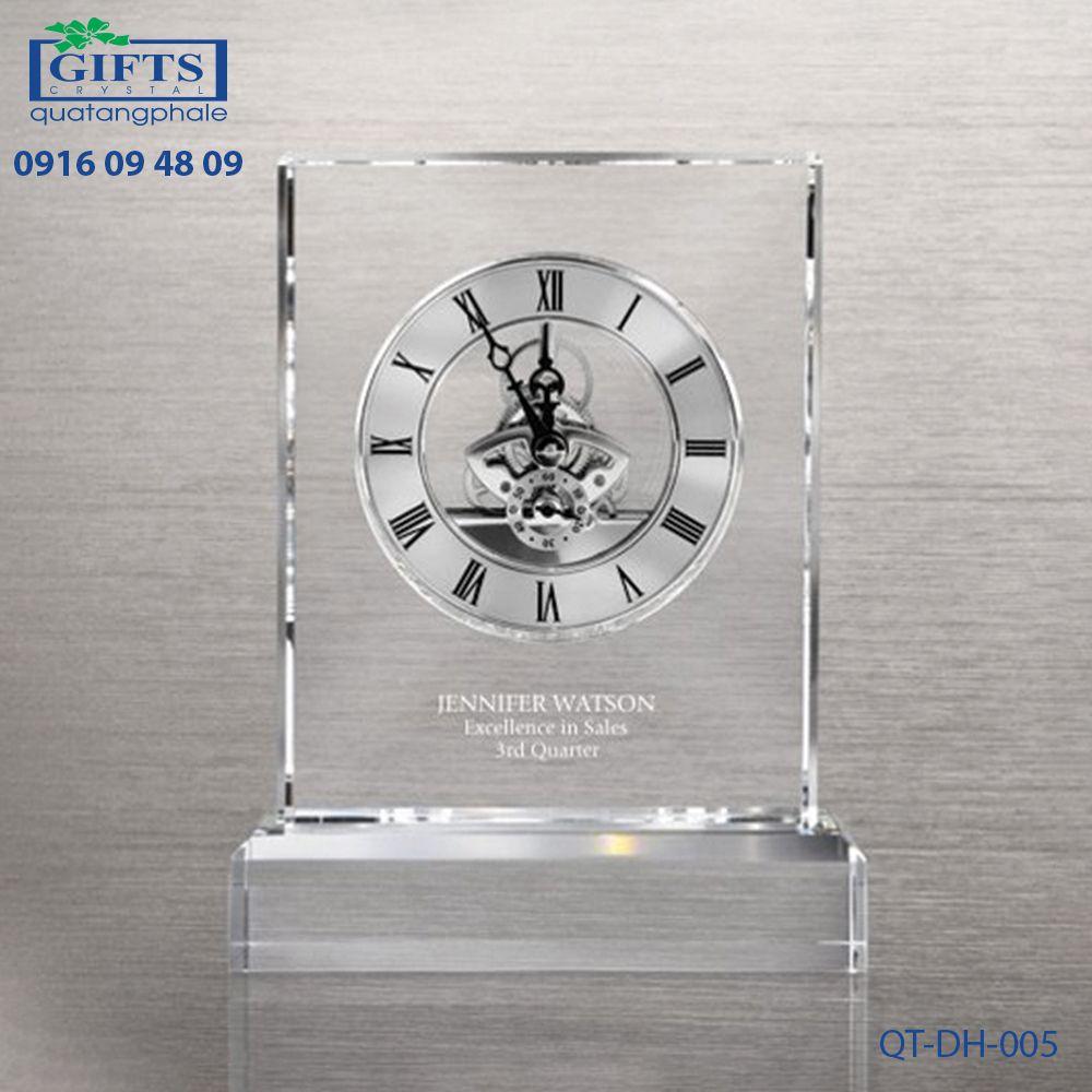 Đồng hồ pha lê để bàn QT-DH-005