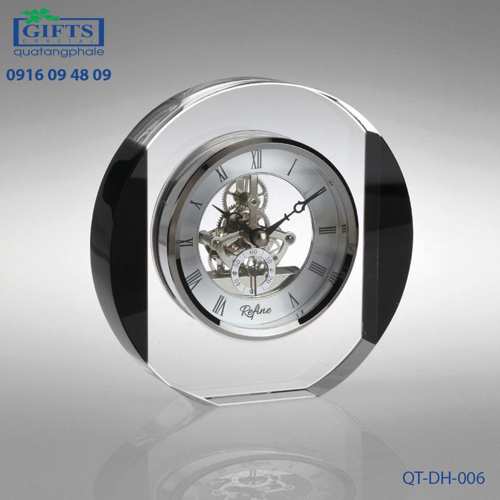 Đồng hồ pha lê để bàn QT-DH-006
