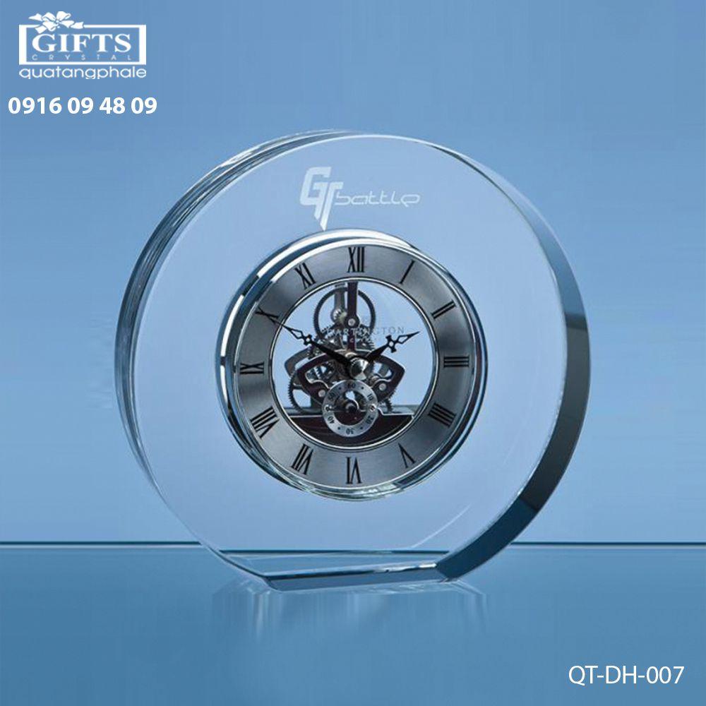 Đồng hồ pha lê để bàn QT-DH-007