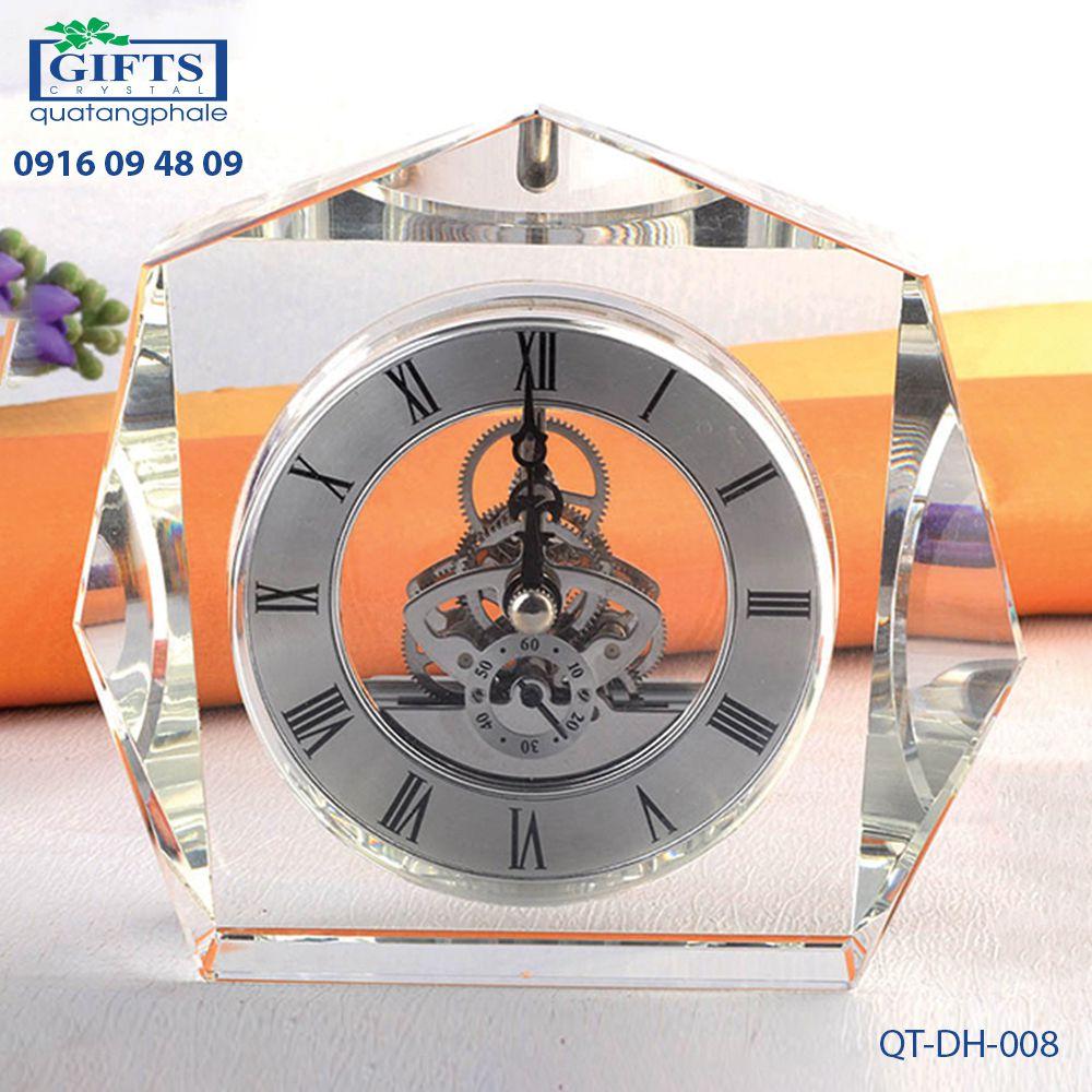 Đồng hồ pha lê để bàn QT-DH-008