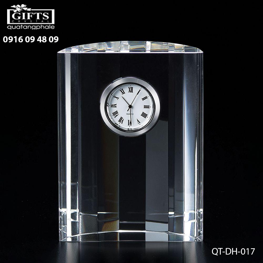 Đồng hồ pha lê để bàn QT-DH-017