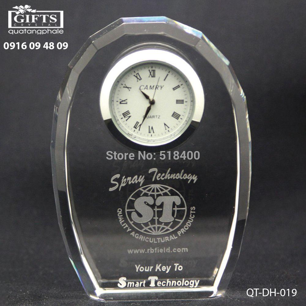 Đồng hồ pha lê để bàn QT-DH-019