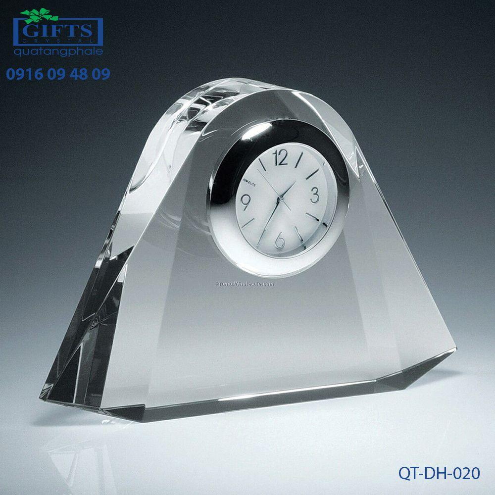 Đồng hồ pha lê để bàn QT-DH-020