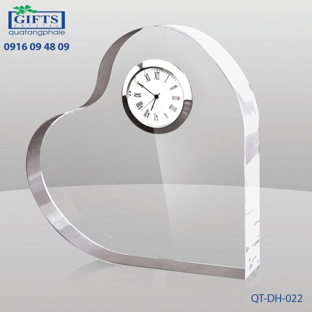 Đồng hồ pha lê để bàn QT-DH-022