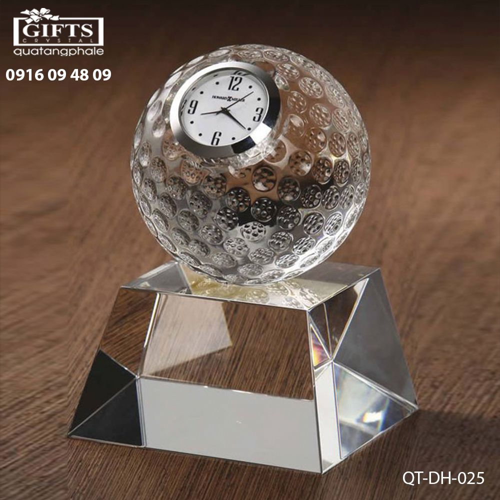 Đồng hồ pha lê để bàn QT-DH-025