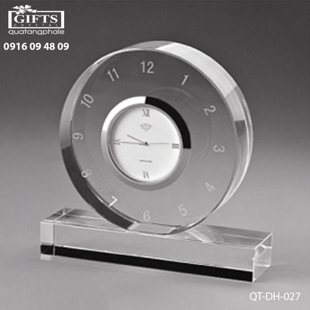 Đồng hồ pha lê để bàn QT-DH-027