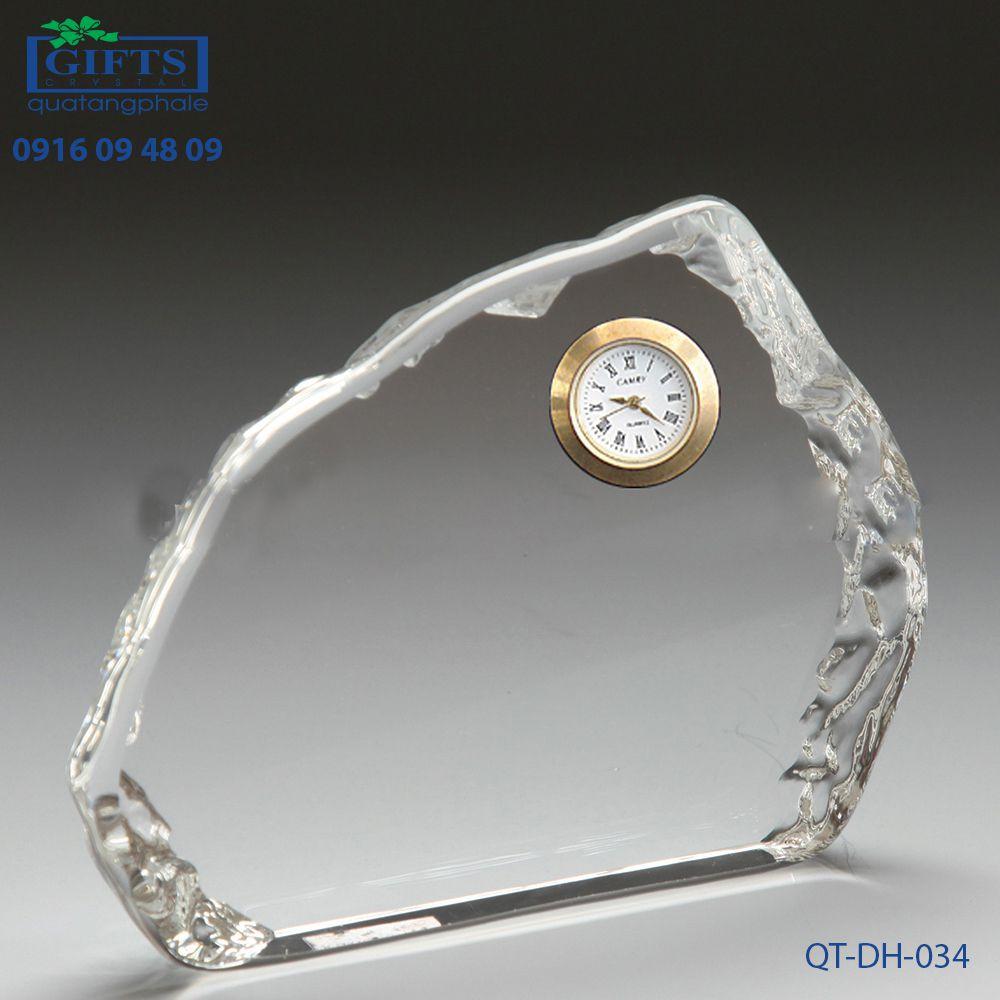 Đồng hồ pha lê để bàn QT-DH-034