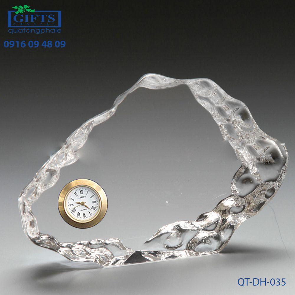 Đồng hồ pha lê để bàn QT-DH-035