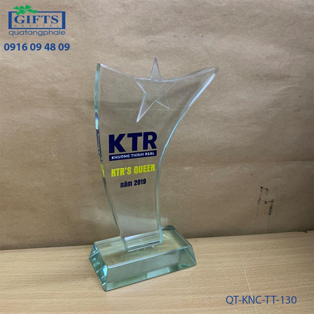 Kỷ niệm chương thủy tinh QT-KNC-TT-130