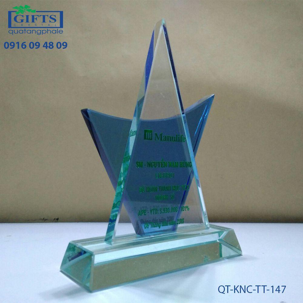 Kỷ niệm chương thủy tinh QT-KNC-TT-147