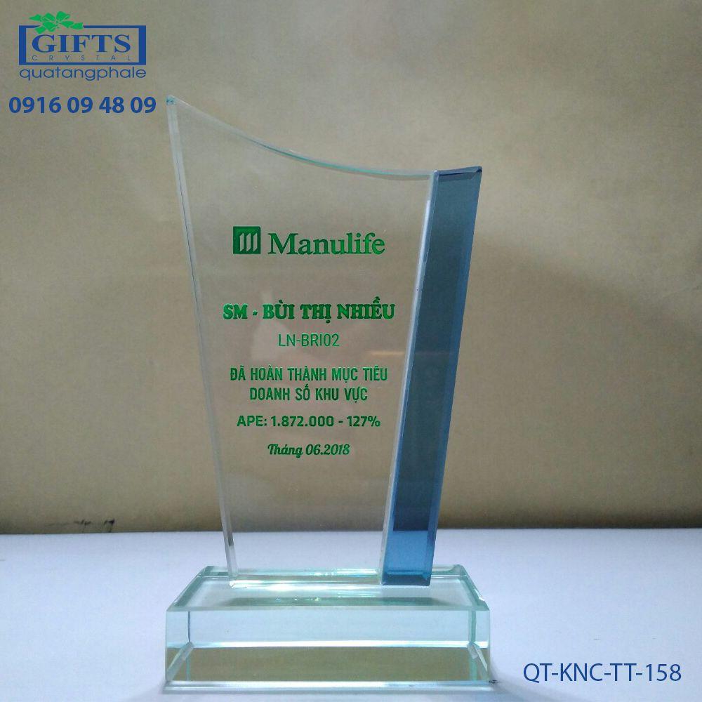 Kỷ niệm chương thủy tinh QT-KNC-TT-158