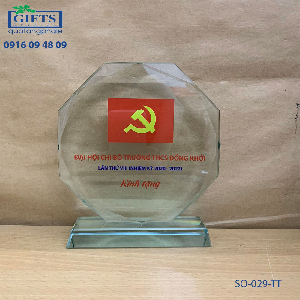 Kỷ niệm chương thủy tinh SO-029-TT