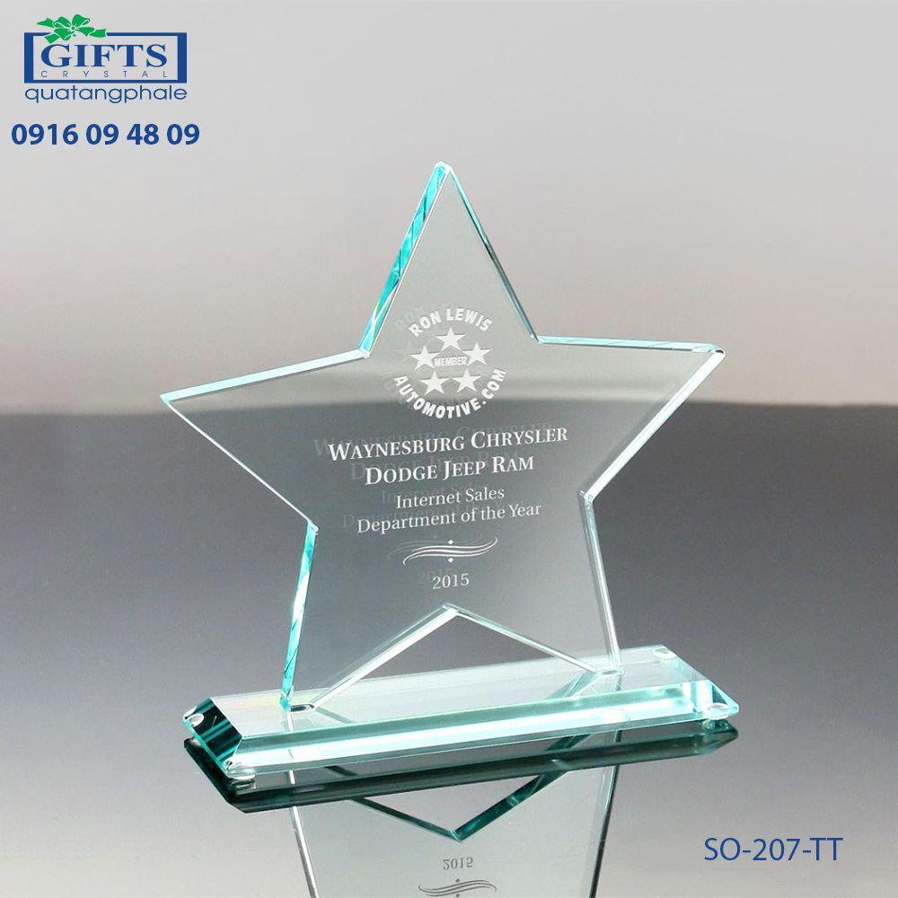 Kỷ niệm chương thủy tinh SO-207-TT