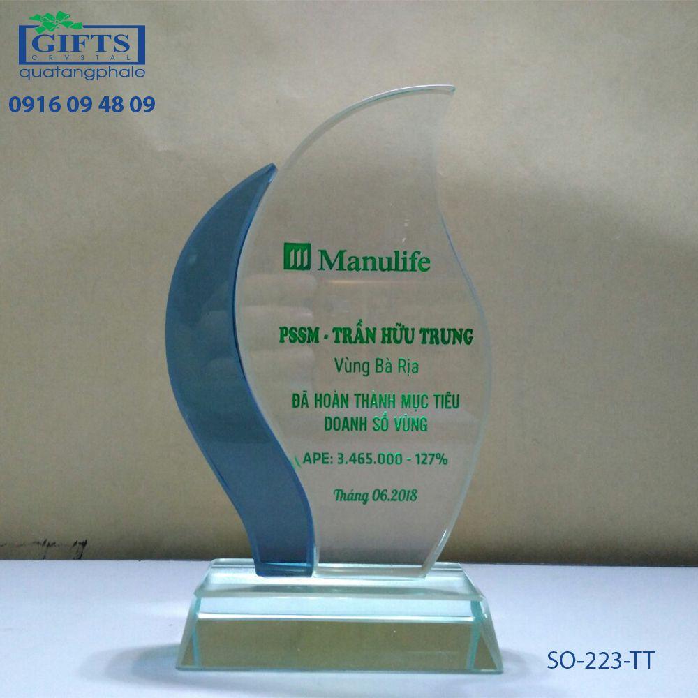 Kỷ niệm chương thủy tinh SO-223-TT
