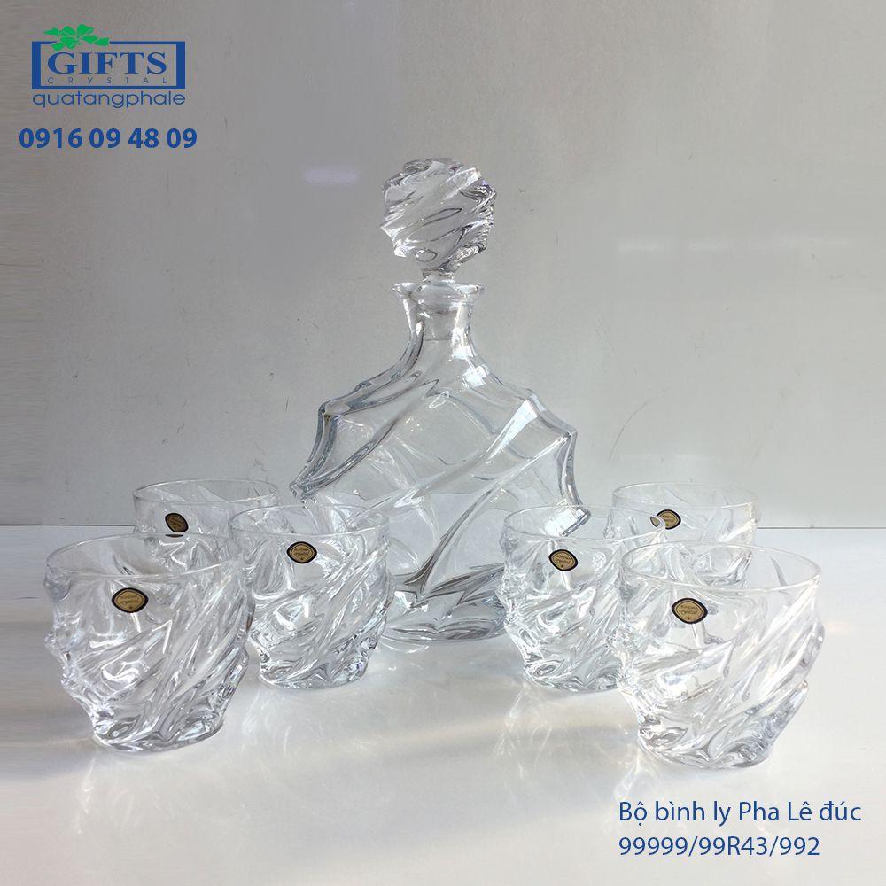 Bộ Bình Ly Pha Lê Đúc 99999-99R43-992