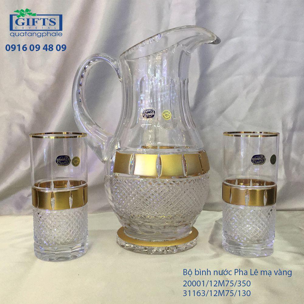 Bộ bình nước pha lê mạ vàng 20001-31163-12M75-350-130